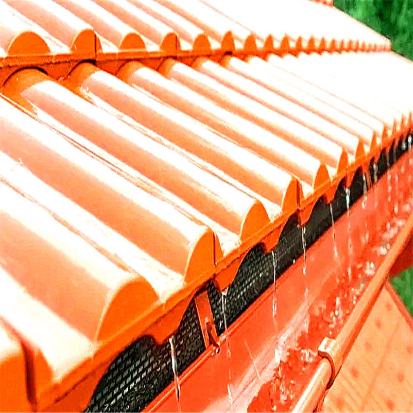 棕色彩鋁天溝檐槽 山東省威海pvc天溝落水