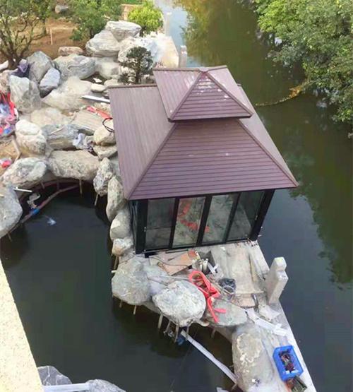 克拉玛依温泉酒店铝凉亭批发厂家