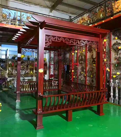 宁夏温泉酒店铝凉亭定做工厂