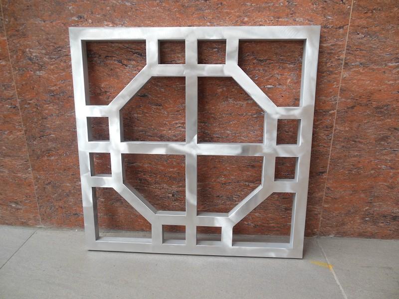 雄县茶室复古木纹铝花格行业领先