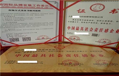 阳江申请办理中国最具社会责任感企业