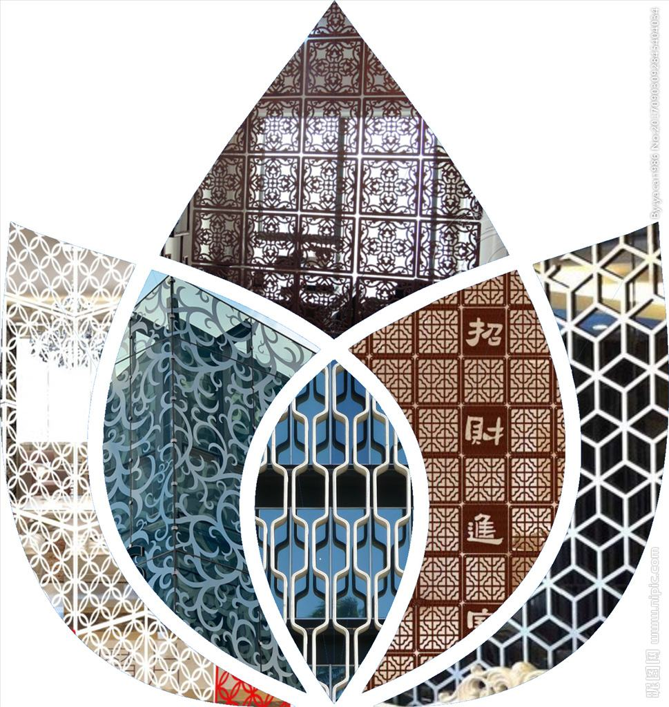 钦州铝窗花生产厂家外立面建筑装饰铝窗花花窗
