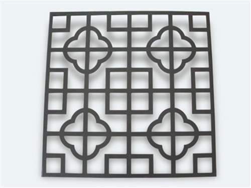 崇左折叠式铝屏风仿古铝窗花厂德普龙定制室内隔断复古铝花格