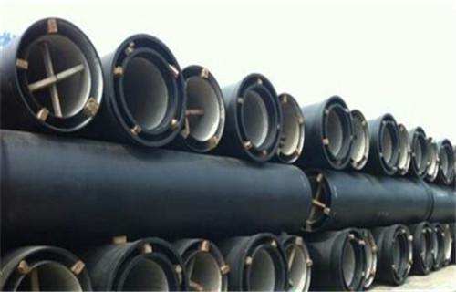 煙臺K9級膠圈鏈接球墨鑄鐵管DN150價格