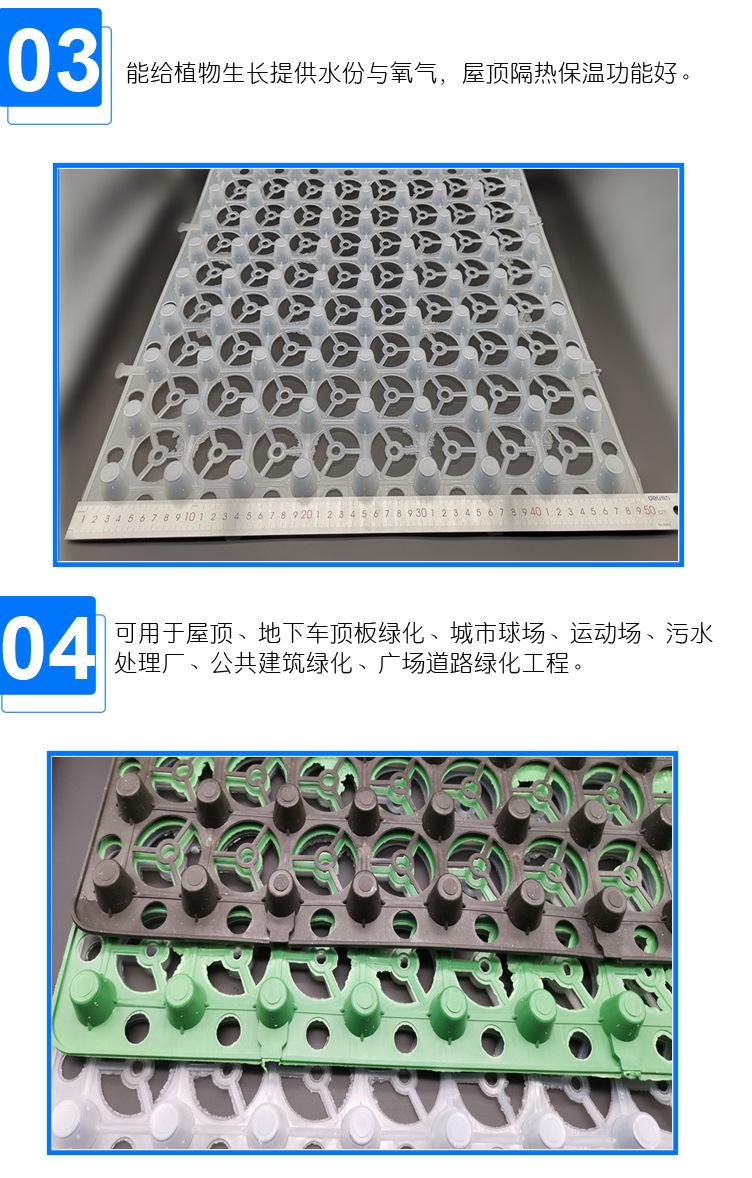 郑州塑料排水板厂家价格/多少钱一平米