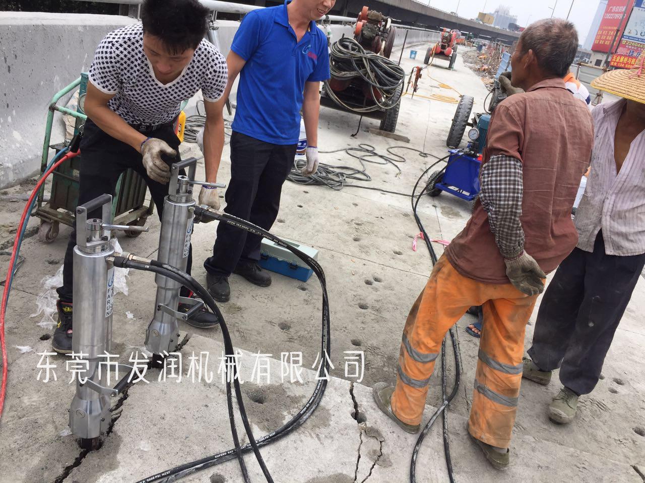 推薦:眉山大型液壓裂石機 雨花石高效開采設備