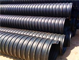 唐山钢带增强螺旋波纹管送货到工地