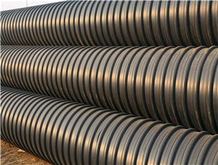 延安HDPE钢带波纹管地埋排水管